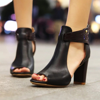 New 2020 Women Sandals High Heeled Gladiator Buckle Sandals Peep Toe Women Summer Shoes Zapatos Mujer Size 34-43 summer women sandals gladiator sandals women strange metal high heel 9 cm womens shoes 2018 zapatos mujer plus size hl94muyisexi