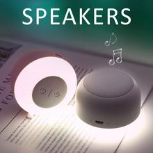 2019 New Wireless Mini USB Outdoor Portable Speaker With Magnetic Stereo Lamp Light Bluetooth 5.0 Pretty Speakers
