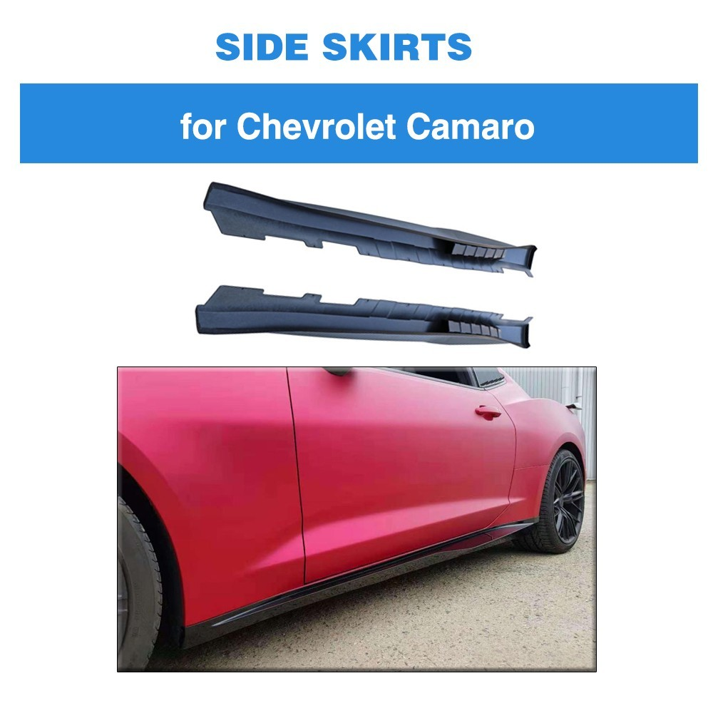 For Chevrolet Camaro 2017 Coupe 2 Door 1LE Style Side Skirt Bodykit PP Auto Bumper