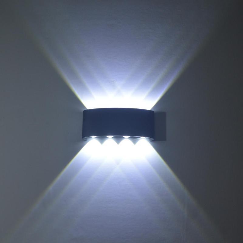 8W LED Wall Light Led Wall Sconce Lights Aluminium White Black