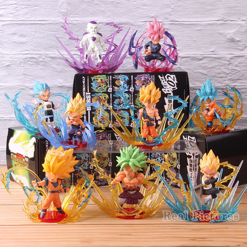 WCF Dragon Ball Super BURST Super Saiyan Blue Vegeta Son Goku Gohan Goku Black Freeza Broly Figure PVC Model Toys 9pcs/setWCF Dragon Ball Super BURST Super Saiyan Blue Vegeta Son Goku Gohan Goku Black Freeza Broly Figure PVC Model Toys 9pcs/set