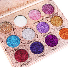 купить 12-Color Glitter Powder Eye Shadow Makeup Glitter Powder EyeShadow Beauty Pallete онлайн