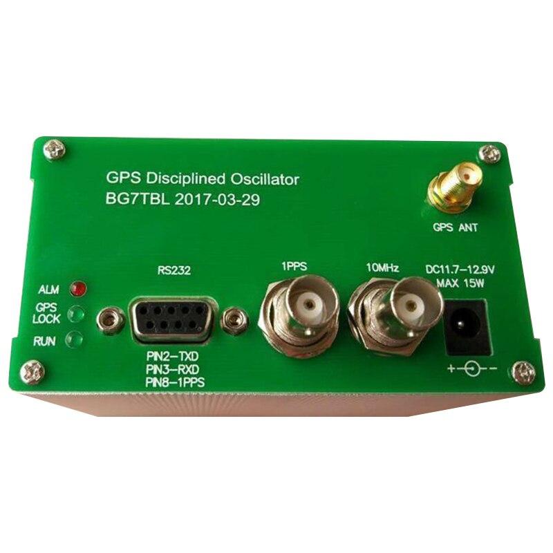 1 pcs 10 mhz SORTIE ONDE sinusoïdale GPS Disciplinée Horloge GPSDO + GPS Antenne + alimentation AC110-220 10 m 1PPS RS232 Instrument Pièces