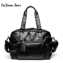 KUDIAN BEAR Simple Men Briefcase Messenger Shoulder Bags Large Capacity Handbag Business Leather Computer Bag Laptop BIG007 PM49