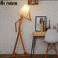 Творческий человека напольные лампы в форме женской фигуры, деревянное бревно ткань стенд свет Гостиная прикроватная тумбочка пианино осв