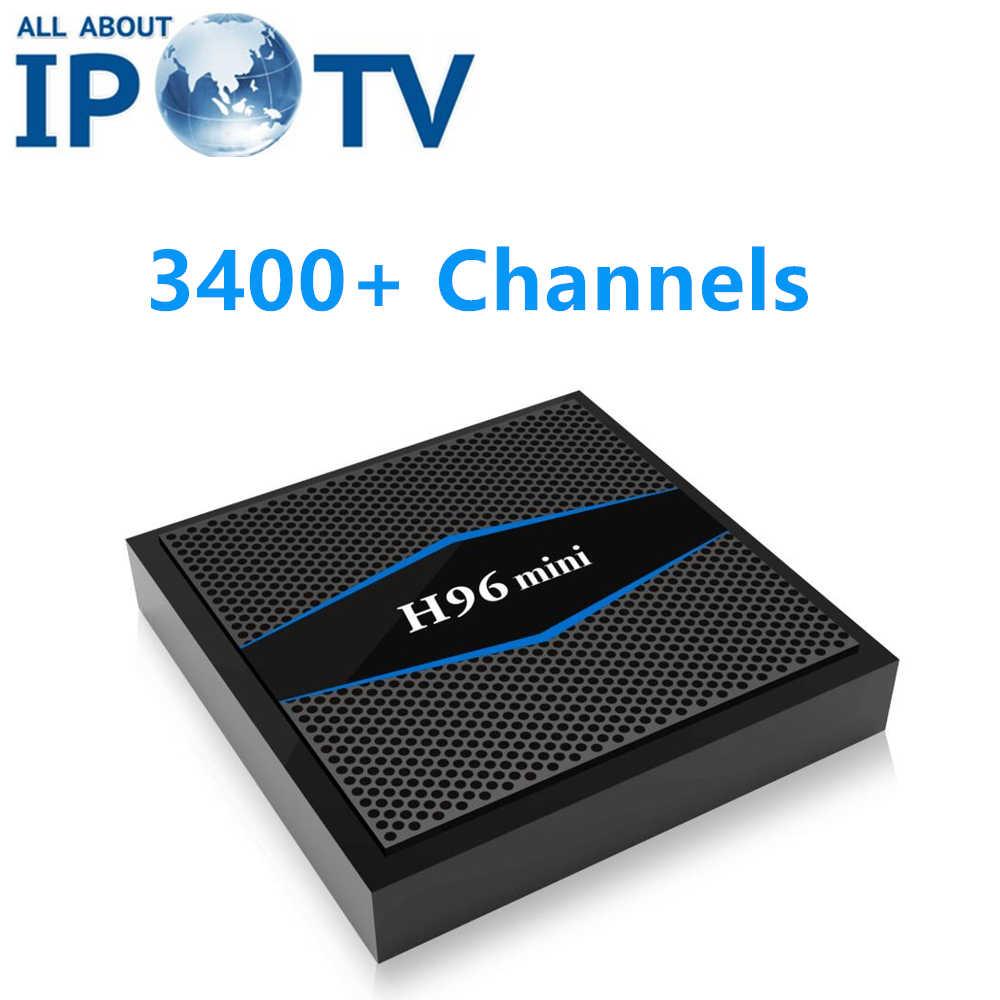 Original H96 Mini Smart Tv Box EVDTV árabe EE. UU. Reino Unido Portugal francés Egipto Israel irán IPTV India Android H96mini decodificador
