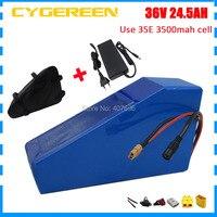 36 В 24.5AH треугольная литиевая батарея 36 В 25AH батарея для электрического велосипеда использование 3,7 в 3500 мАч 35E cell 50A BMS 2A зарядное устройство с
