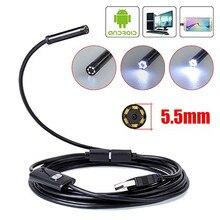 720 720p内視鏡カメラ 8 ミリメートルレンズアンドロイドusb内視鏡柔軟なヘビケーブルledライト検査電話pcボアスコープ