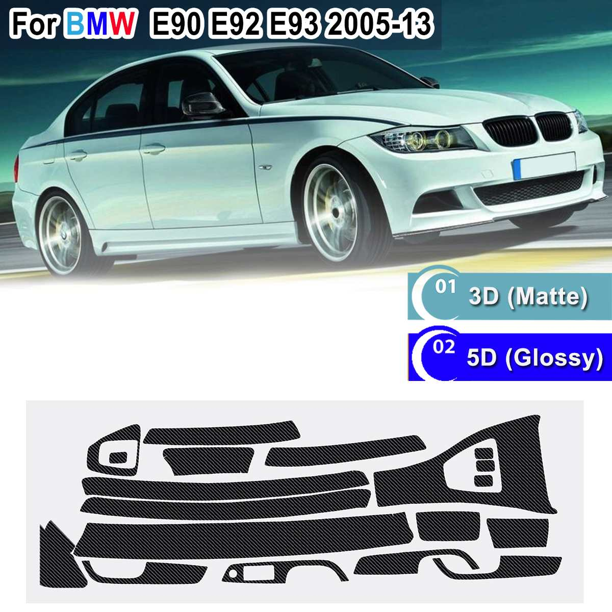 5pcs 3D AC SCHNITZER Resin Badge Emblem Sticker Decal for BMW M3 M5 335i 428i X5