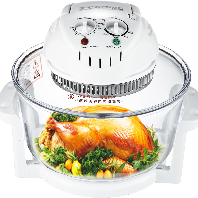 12L Intelligent Air Fryer Glass Fries Machine Healthy No Fumes Three-dimensional Heating Multiple Gear Temperature Adjustment