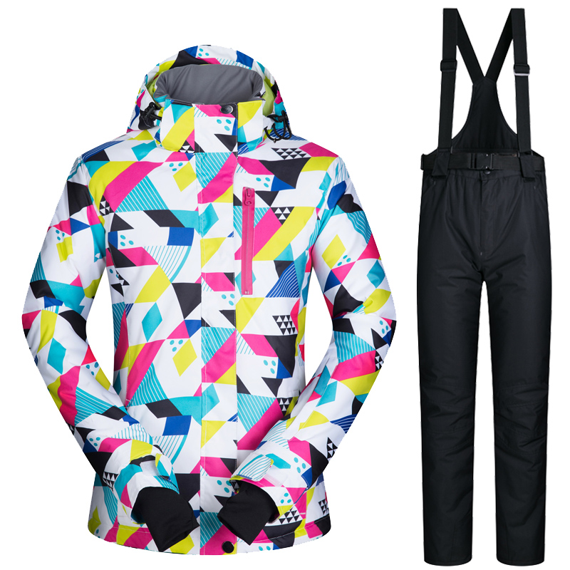 Ski Jacket Woman High Quality  Ski Suit Winter Female Snow Jacket And Pants Waterproof Warm Outdoor Mountain Snowboard ClothesSki Jacket Woman High Quality  Ski Suit Winter Female Snow Jacket And Pants Waterproof Warm Outdoor Mountain Snowboard Clothes