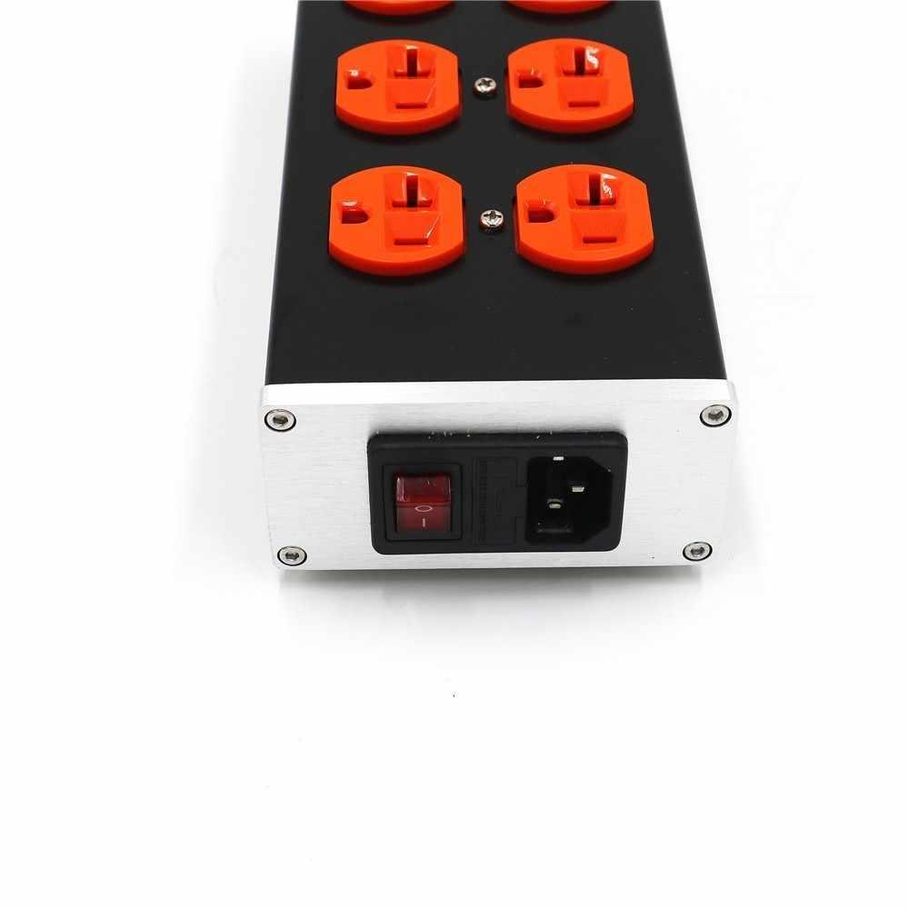 US6 10A 2200 W AC источника питания фильтрующая плата току молниезащиты Японии США Plug Разъем питания для усилитель DAC
