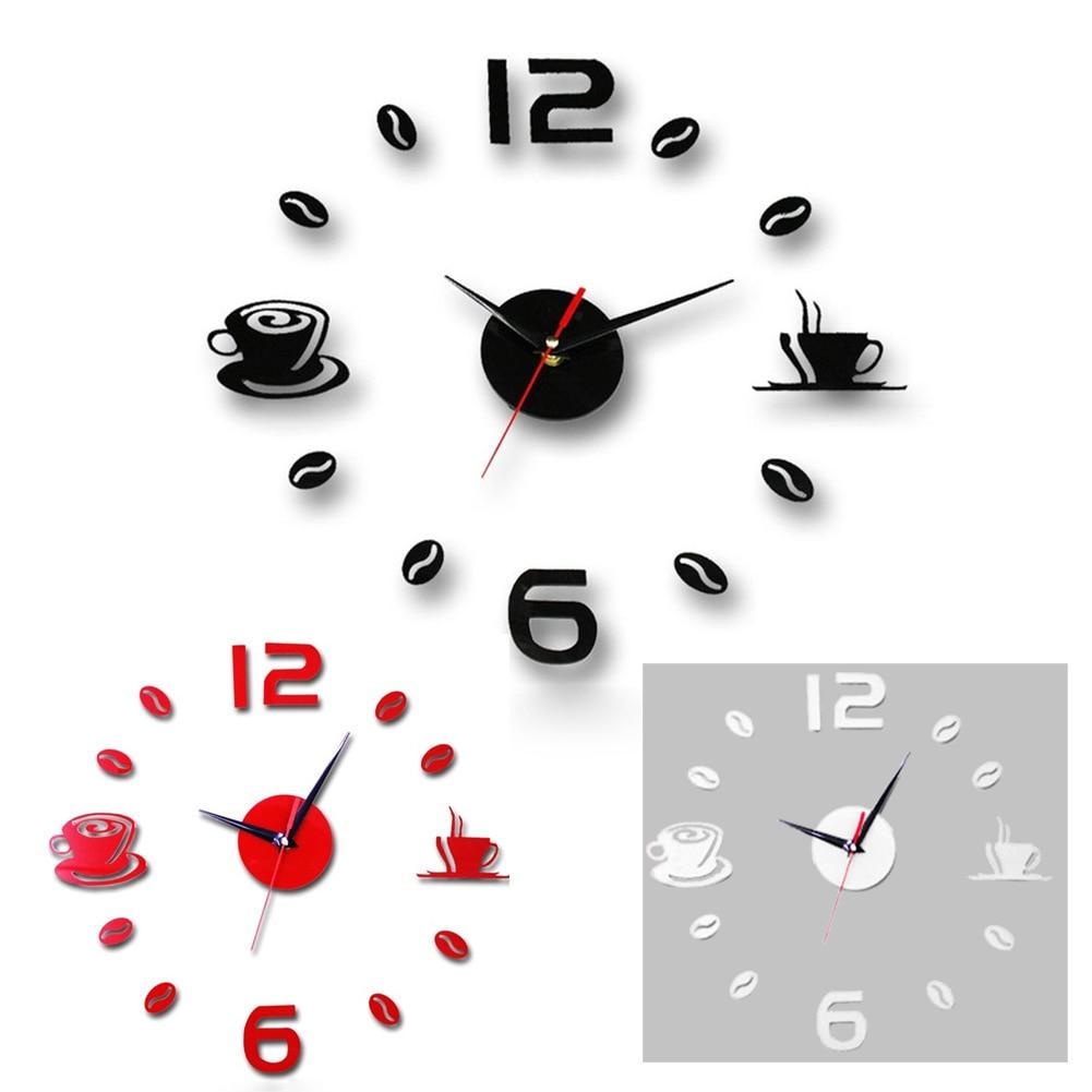 DIY 3d Acrylic Plactic Home Quartz Circular  Modern Wall Clock Wall Sticking Clock Wall Decoration Sticker Clocks