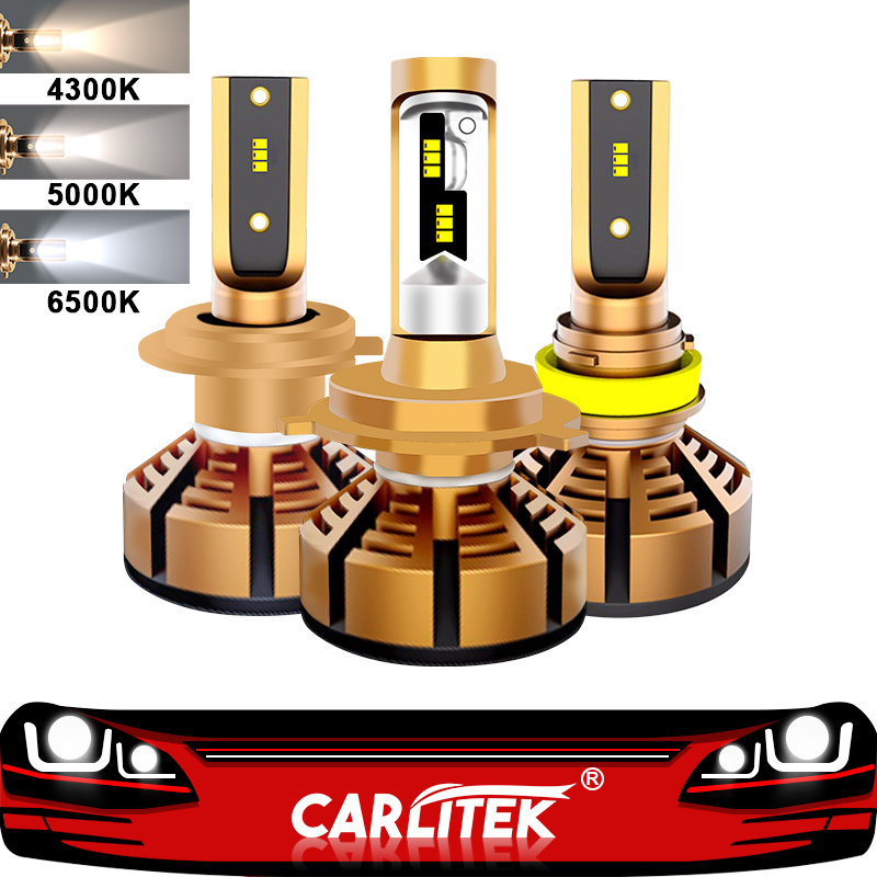 CARLitek H4 Led H7 Led with Lumileds ZES Chip Car Headlight Bulb H11 H8 H9 H1