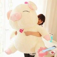 44''huge большая девочка дети свинья плюшевые мягкие игрушки мягкие животные кукла подарок на день рождения
