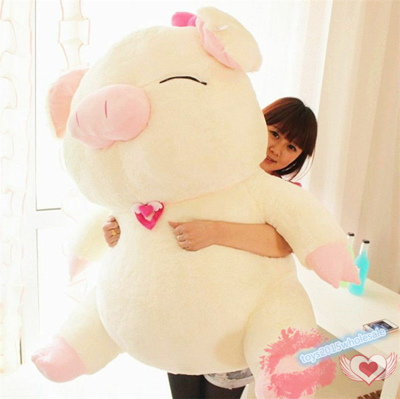 44huge-large-girl-kids-pig-plush-soft-toy-stuffed-animals-dolls-birthday-gift