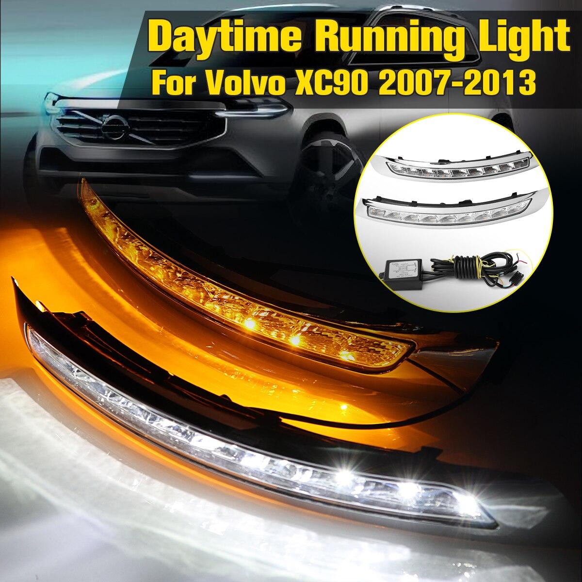 1 paire Feux de jour LED DRL Lampe Tournant Du Signal brouillard lampe Pour Volvo XC90 2007 2008 2009 2010 2011 2012 2013
