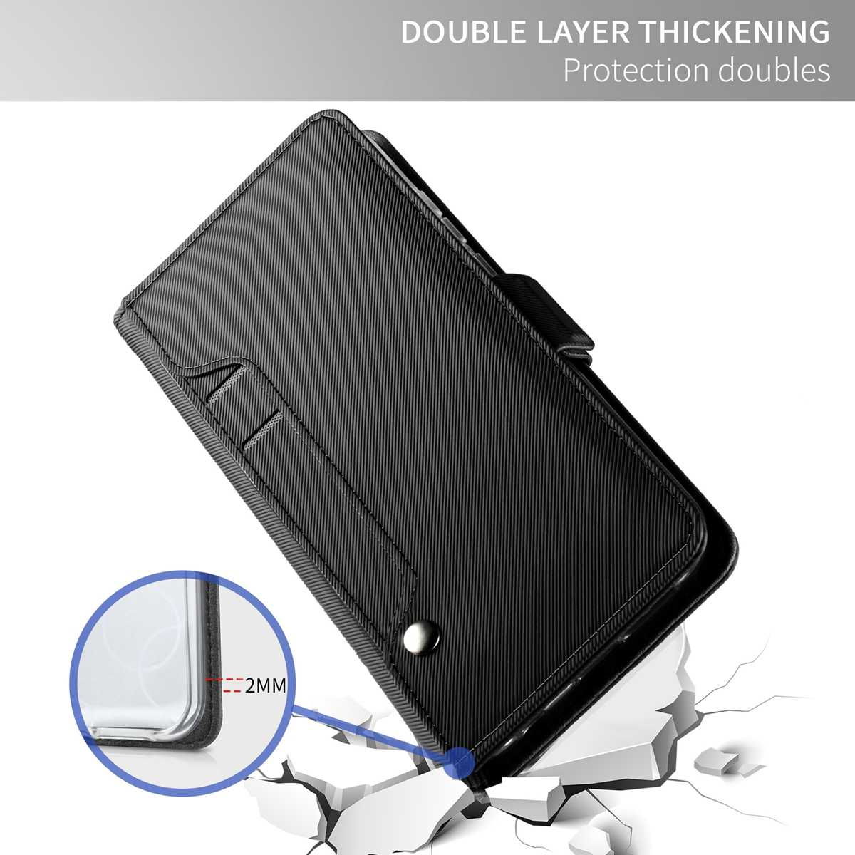 Для Motorola Moto G6/G6 плюс Чехол из искусственной кожи с откидной крышкой и подставкой с зернистой текстурой с зеркалом и чехол с подставкой и карманом для карт для Motorola G6/G6 плюс