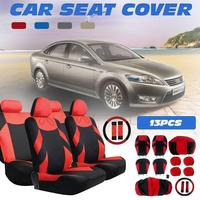 13pcs/set Car Seat Cover Set Universal Auto Vehicle Cushion Protector With Steering Wheel Wrap Shoulder Belt Pads