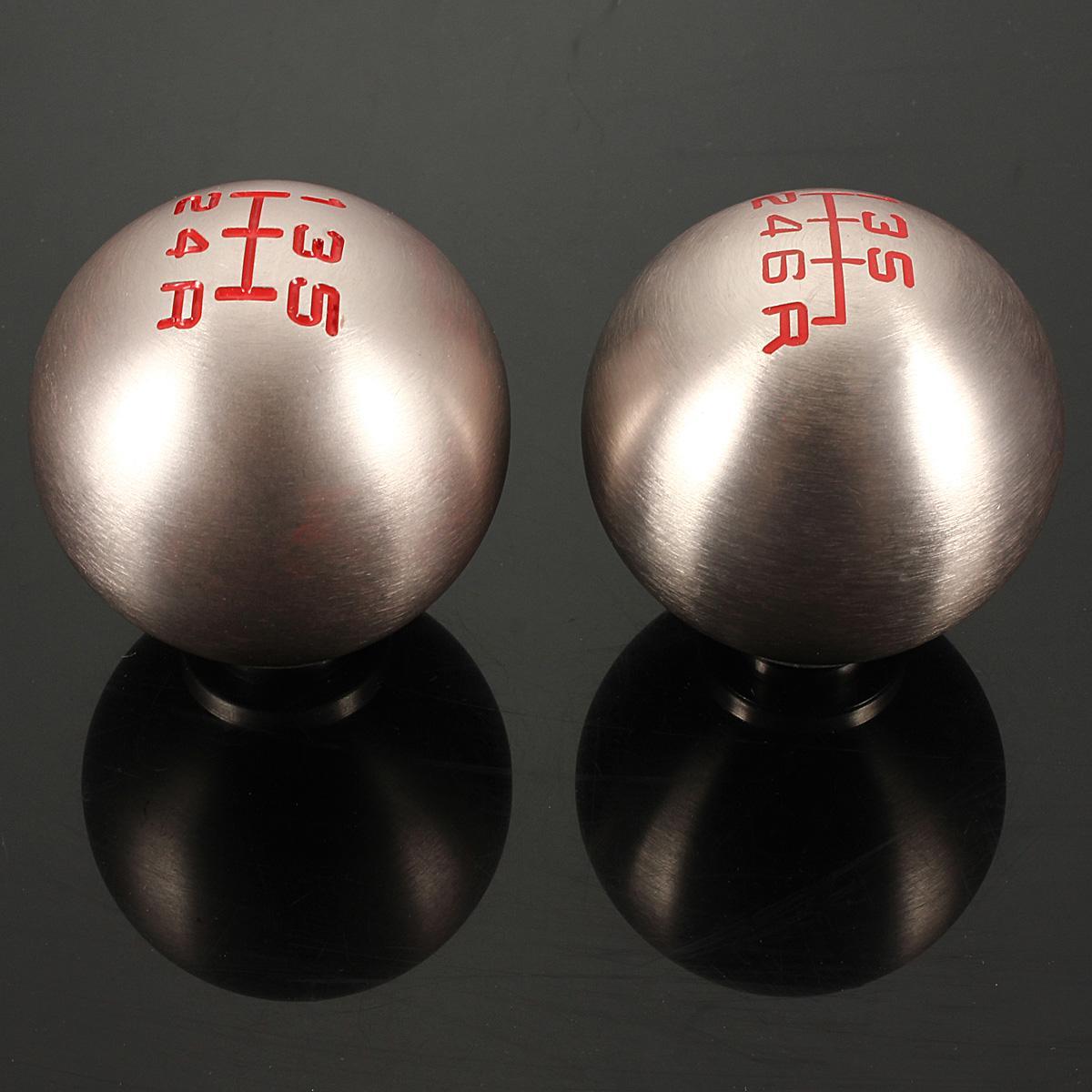 Jackey Awesome Screw Round Chrome Finish Aluminum Manual Transmission Stick Shift Knob Fit