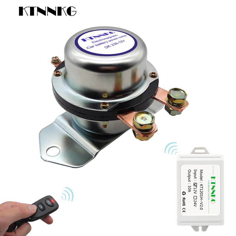 12V Car Truck Battery Remote Switch 180A Disconnect Latching Relay Electromagnetic Solenoid Valve Terminal Control Gadgets