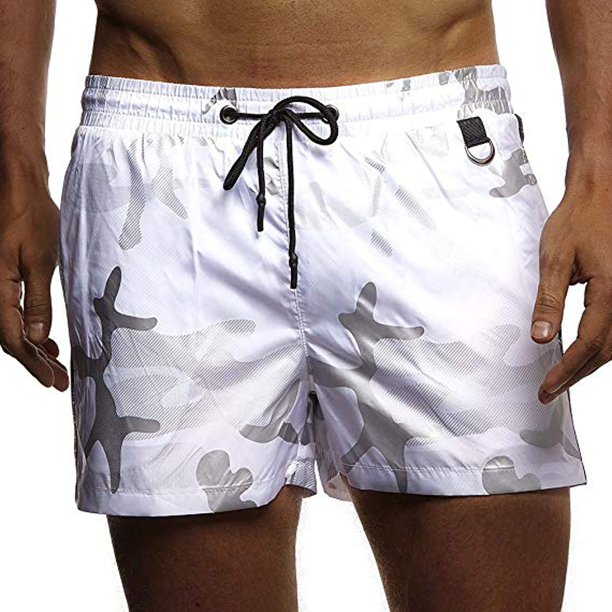 Men Camouflage Pattern Beach   Shorts   Surfing Trunks Boxer Underwear with Pockets Swimsuit Men   Board   Swimming   Short   Surfing   Shorts