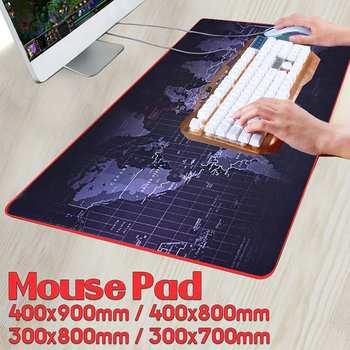 600x300/700x300/800x300/900x400 мм карта мира замок края коврик для мыши геймер большой размер компьютер коврик для клавиатуры игровой коврик для мыши