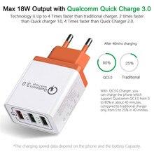 18 W USB Quick charge 3,0 5 V 3A EU UNS Stecker Handy Schnelle ladegerät lade für Samsug s8 s9 Huawei für Iphone 7 8