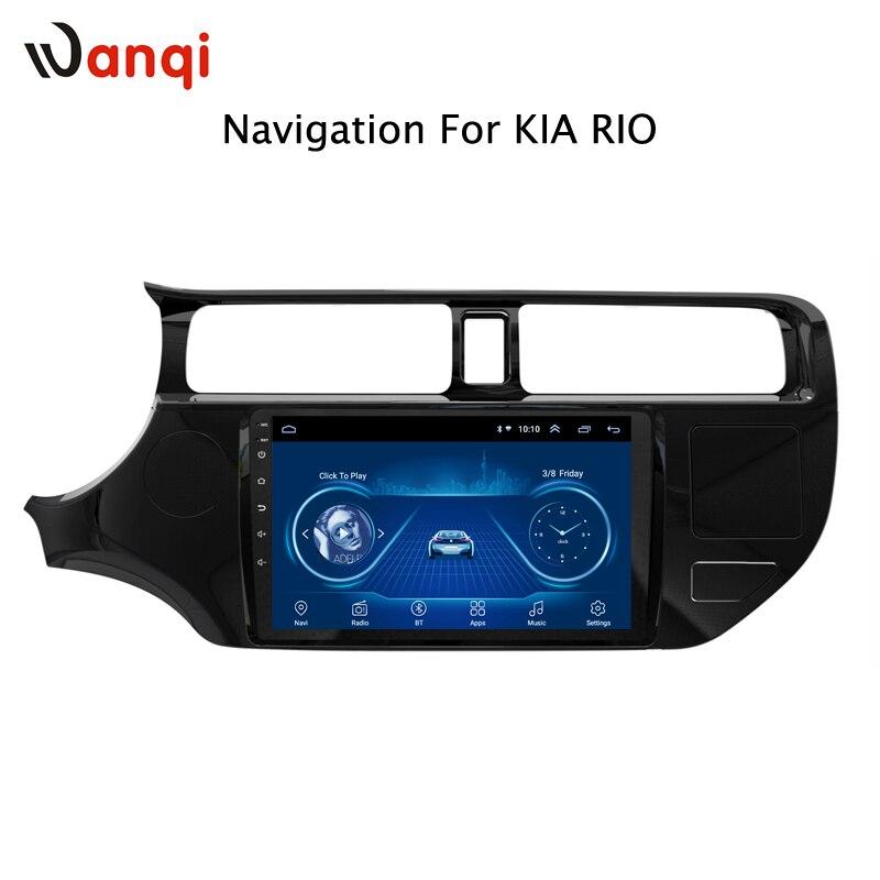 Lecteur dvd de voiture android 8.1 9 pouces pour KIA rio K3 2012-2016 avec radio audio multimédia navigation gps