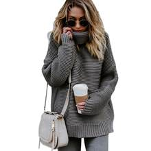 3045c8c153 Coarse Pullover Women s Jumper Turtleneck Sweater Female Jumper Warm Sweater  thick Winter Cable Knitted Oversized Sweater