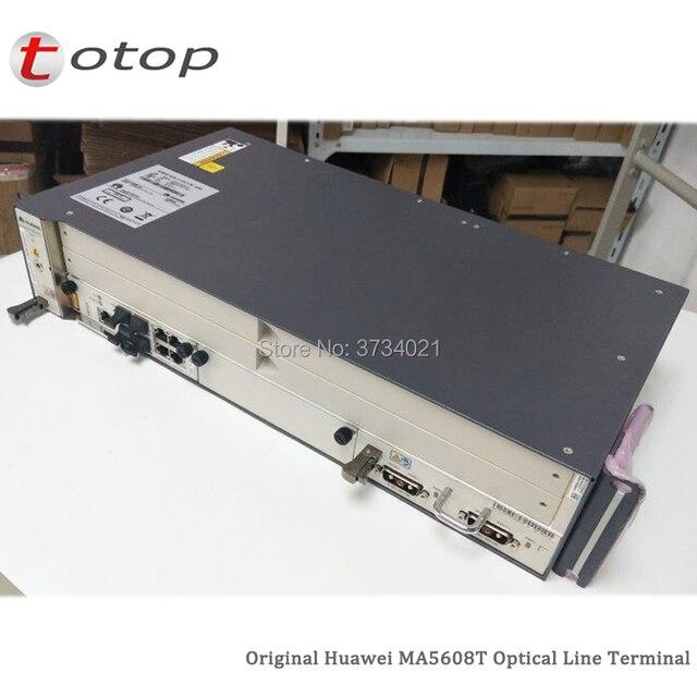 Expédition par DHL Huawei MA5608T GPON OLT avec 1 * MCUD 1G + 1 * carte dalimentation cc MPWC, Terminal de ligne optique MA5608T