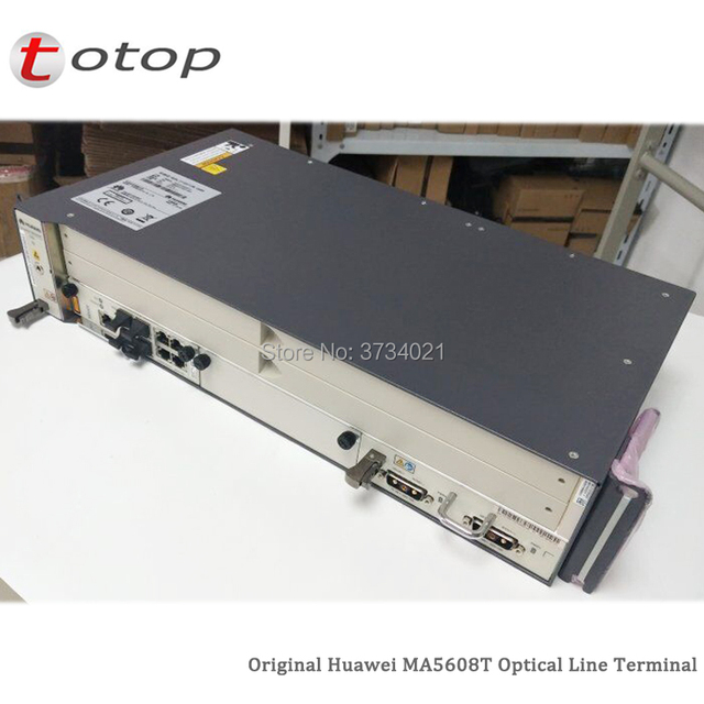 Shipping by DHL Huawei MA5608T GPON OLT with 1*MCUD 1G + 1*MPWC DC Power Board, MA5608T Optical Line Terminal