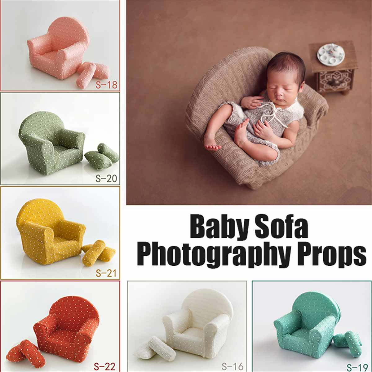 L Size Newborn Baby Photography Props Posing Mini Sofa Chair Decoration Fotografia Accessories Infantil Studio Shooting PropsL Size Newborn Baby Photography Props Posing Mini Sofa Chair Decoration Fotografia Accessories Infantil Studio Shooting Props