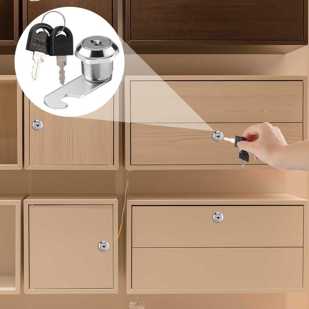 Serrures à tiroirs avec 2 clés serrure de matériel de meubles serrure d'armoire de porte pour bureau boîte aux lettres Cam 16mm 20mm 25mm 30mm