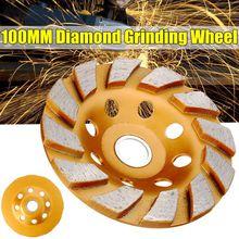 100mm/4 zoll Segment Schleifen Rad Diamant Schleifen Tasse Disc Beton Granit Stein Grinder DIY Power Werkzeug Keramik metallbearbeitung