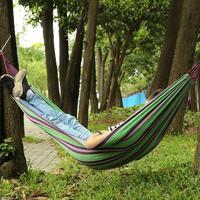Rede de rede portátil ao ar livre do jardim para o curso acampamento balanço lona tarja pendurado cama rede|Redes| |  -