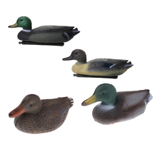 4 Pcs PE Lifelike Outdoor Fishing Floating Duck Decoy Hunting Male Decoying