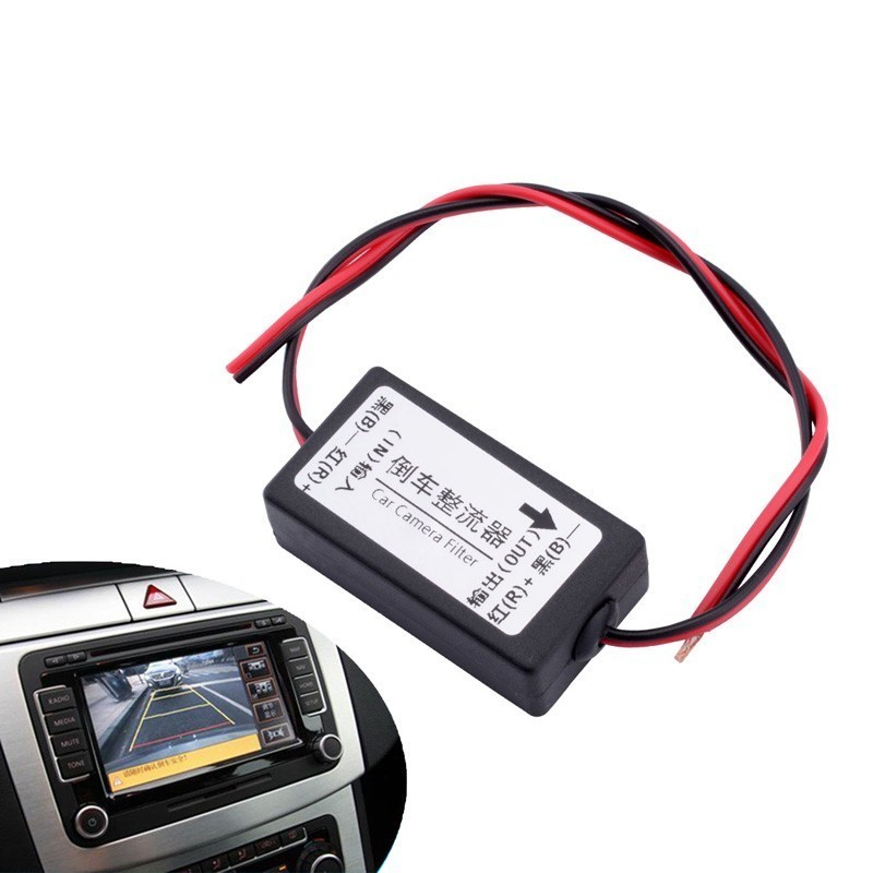 12V DC Power Car Rearview Camera Power Relay CapacitorAuto Car Camera Filter  Relay Capacitor Filter Connector