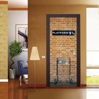 3D PVC Harry Potter Platform 9 3/4 Door Wall Sticker Art Self Adhesive Mural Decor