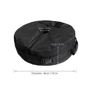 Image 5 - Tent Fixed Sandbag Empty Round Patio Sunshade Umbrella Stand Gravity Base Bag Tent Accessories For Outdoor Camping Beach Party