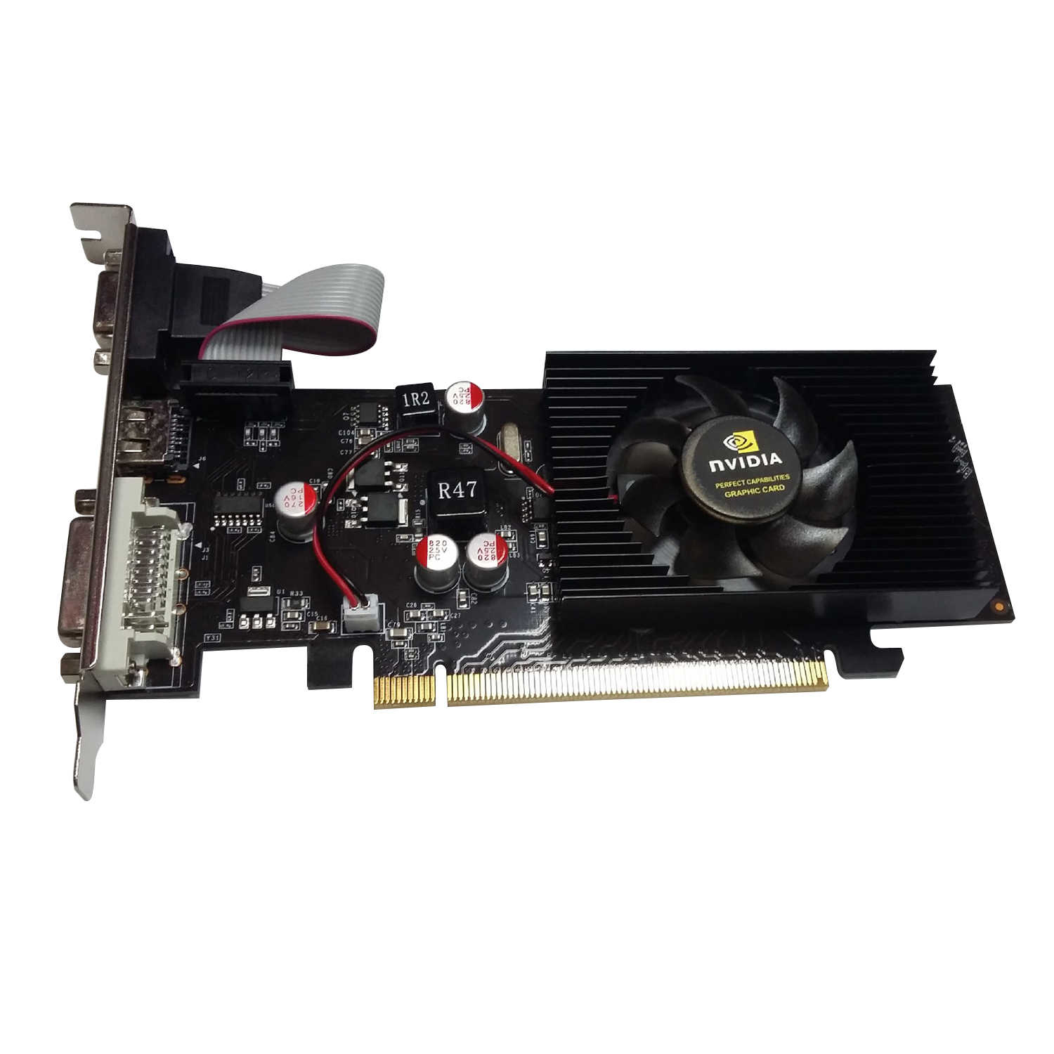 With NVIDIA Half Height Graphics GT610 1GB GT 610 1G D2 64bit Half Height Card