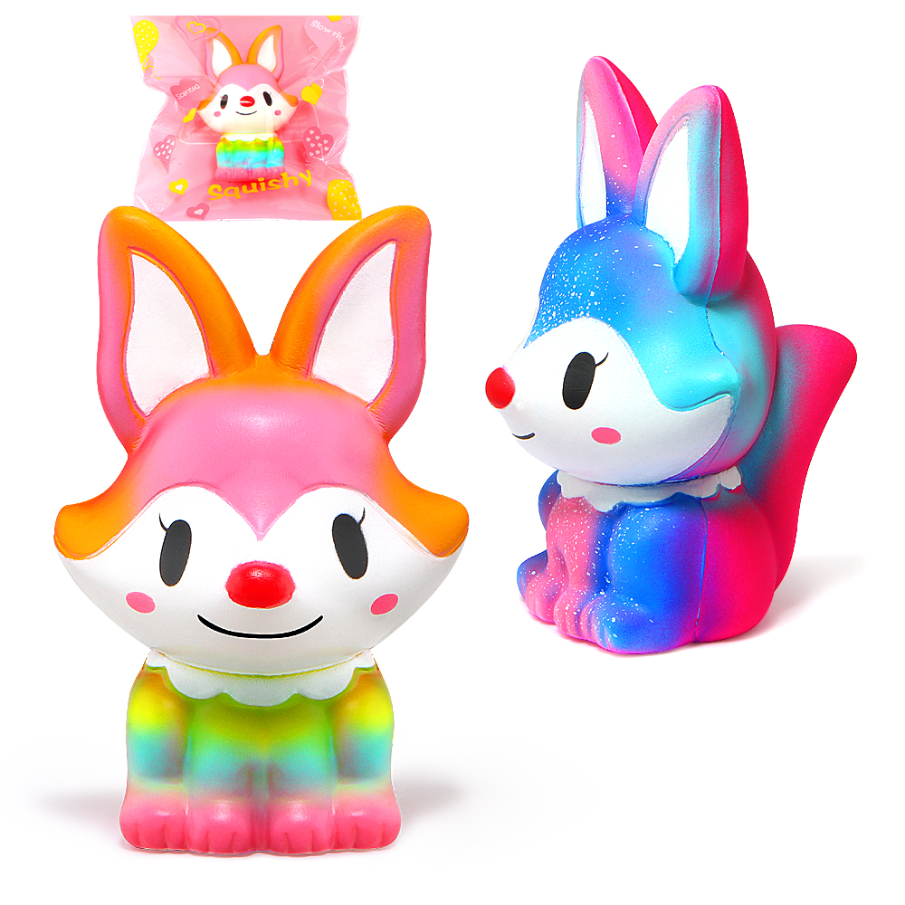 Jumbo Squishy Cartoon Galaxy Colorful Fox Squishies Cream Scented Slow Rising Squeeze Toy