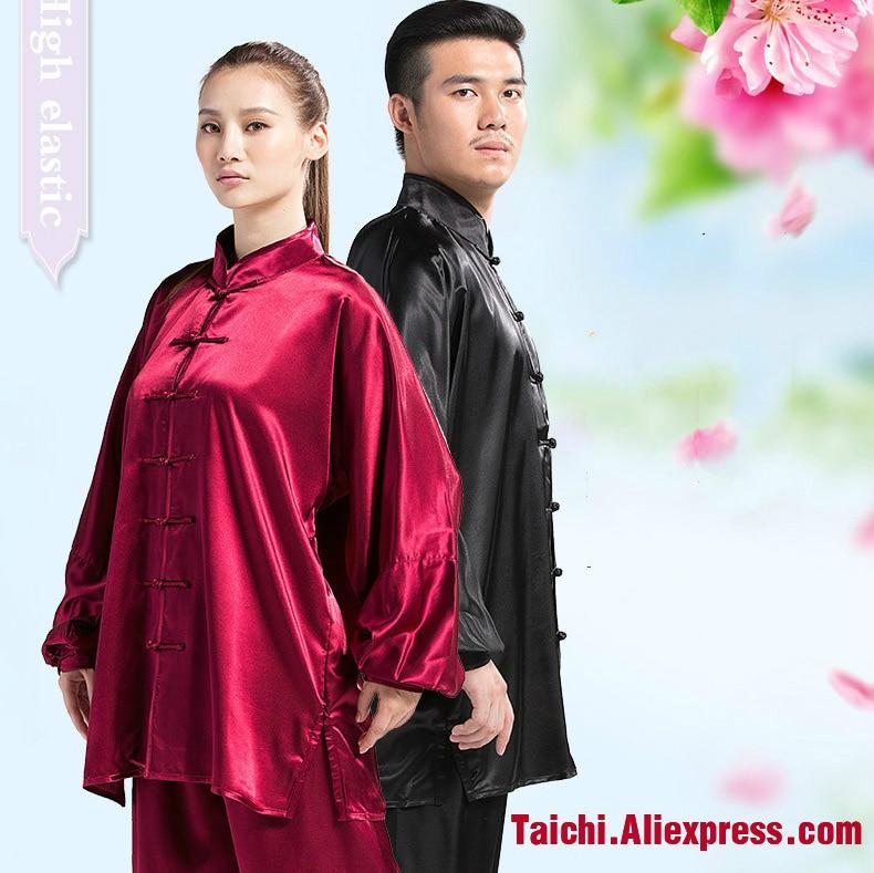 Elastic Fabric Taiji Boxing Men And Women Tai Chi Uniforms Kung Fu Clothing Martial Art Wear