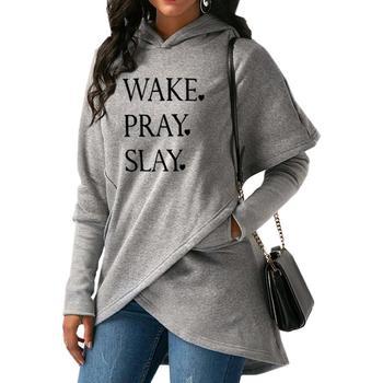 Moda Con Capucha 2019 Wake Slay Pray Sudaderas Nueva Ybf6gyv7
