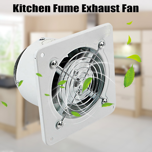 Hot New 4inch 20w High Speed Exhaust Fan Wall-mount Air Vent Exhaust For Kitchen Bathroom Hy99 No06