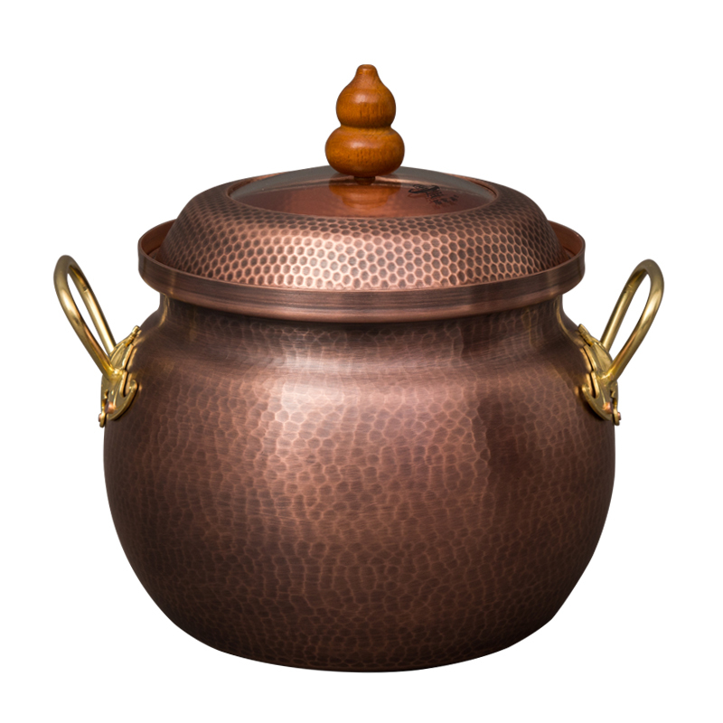 Pure Copper Handmade Thickening Stew Soup Pot 3