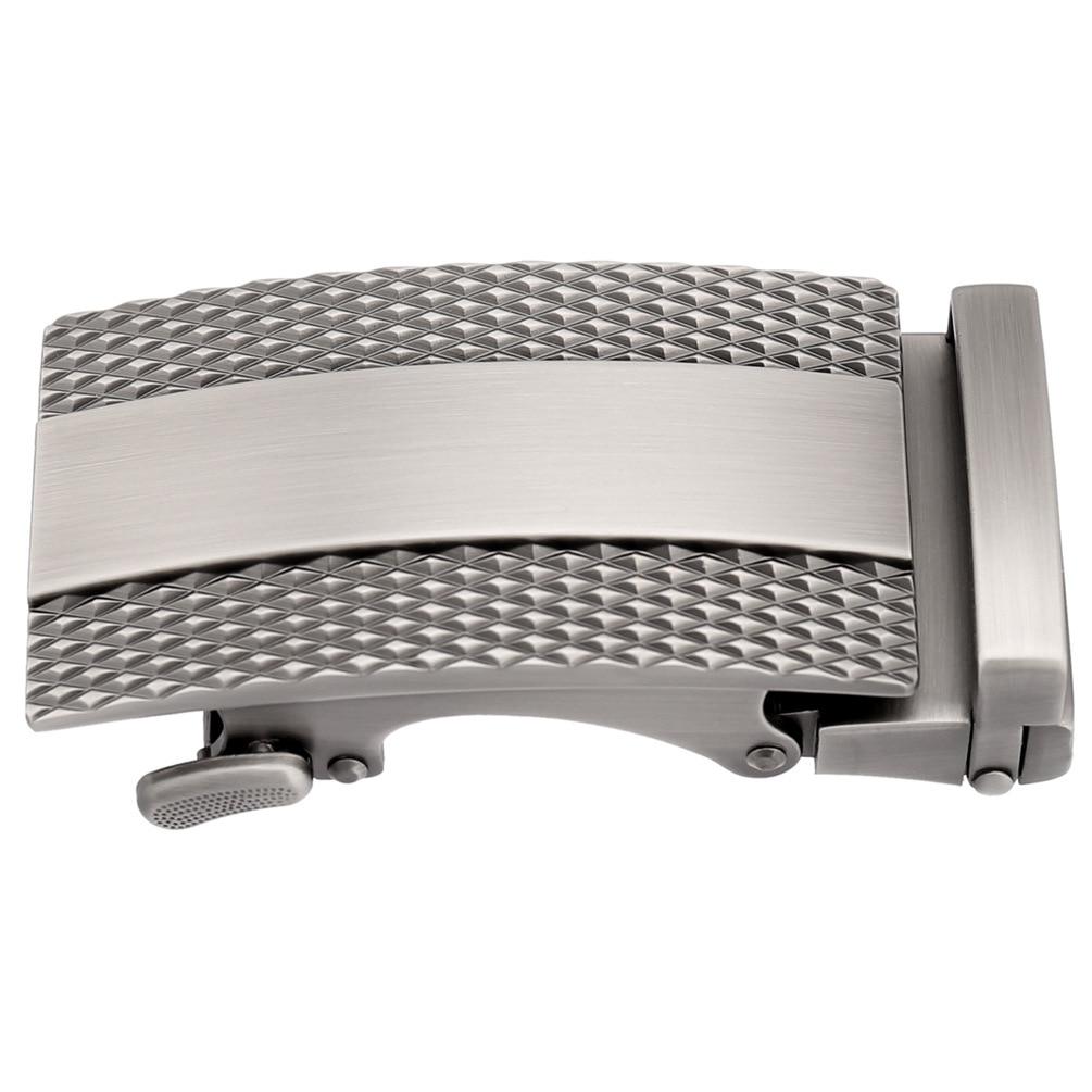 3.5cm Width Automatic Belt Buckle Men's Fashion Designer Belt 2019 Casual Black Silver Belt Buckles For Man CE25-1056