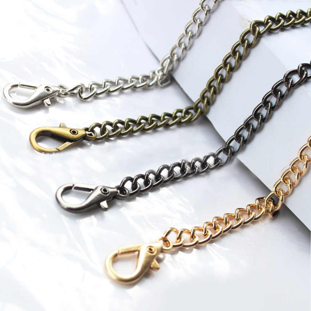 1PC 120cm Handbag Metal Chains Purse Chain With Buckles Shoulder Bags  Straps Handbag Handles Bag Parts a7397f323d8e0