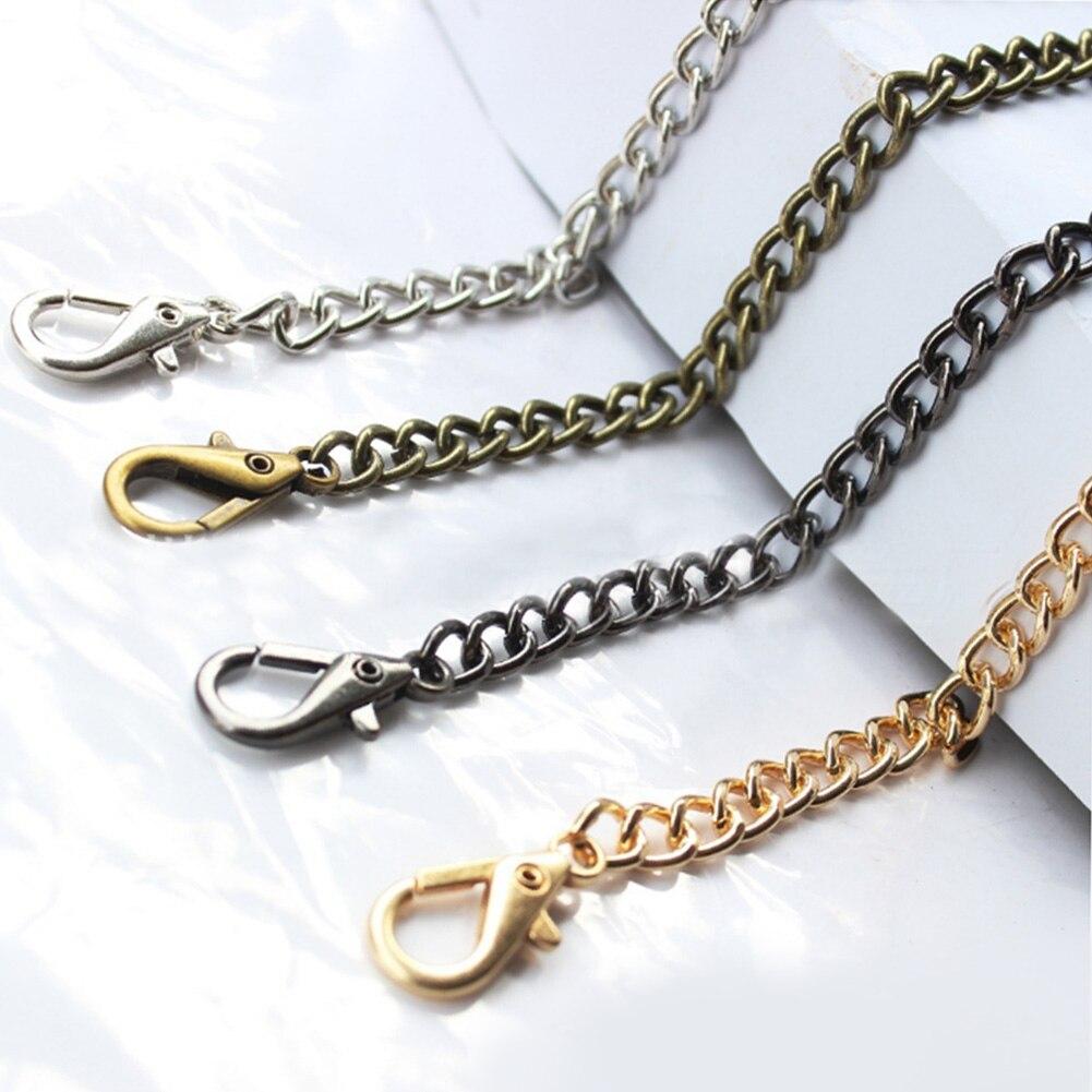1PC 120cm Handbag Metal Chains Purse Chain With Buckles Shoulder Bags Straps Handbag Handles Bag Parts & Accessories handbag