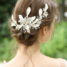 Beautiful Bride Manual Hair Ornaments Original Design Wedding Dress Hairpin Charming Headwear Elegant Jewelry Tiara J6162